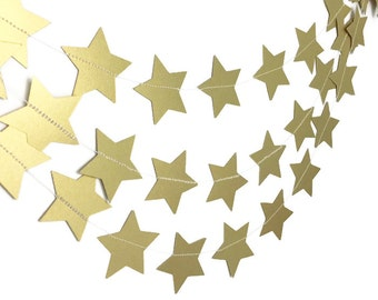 Party Decorations - Birthday Decorations - 1st Birthday Party - Gold Star Garland - Star Garland - Wedding Garland - Bridal Shower - 10 Feet