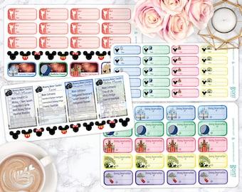 Disney Stickers / Planner Stickers / Sticker kit / Erin Condren / Passion Planner Stickers / Happy Planner