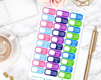 College Stickers / College Planner Stickers / Fits Erin Condren Planners, Happy Planners & more! / Calendar Stickers