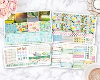 Month Sticker Kit / Summer stickers / Planner Stickers / Erin Condren / Happy Planner / Life Planner / Weekly Spread / Passion Planner