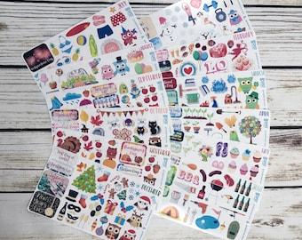 Sticker Kit / Holiday Sticker Kit / Planner Stickers / Sticker Pack / Year Stickers / Month Stickers / Sticker Variety Pack