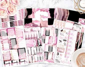 Sticker Kit / Pink Stickers / Agate / Planner Stickers / Erin Condren / Happy Planner / Life Planner / Weekly Spread / Passion Planner