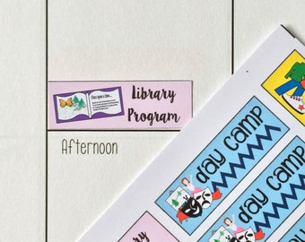 Summer stickers / Fits Erin Condren Planners, Happy Planners, Passion Planners & more! / Calendar Stickers
