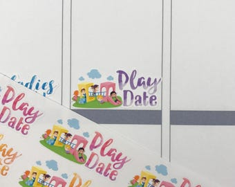 Play Date stickers / kid stickers / Fits Erin Condren Planners, Happy Planners, Passion Planners & more! / Calendar Stickers