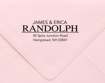 Address Stamp, Custom Personalized Address Stamp, Self Inking Return Address Stamp, Personalized Address Stamp, Custom Wedding Stamp 724