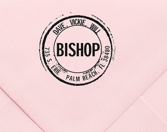Address Stamp, Custom Personalized Address Stamp, Self Inking Return Address Stamp, Personalized Address Stamp, Custom Wedding Stamp 455