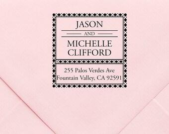 Custom Return Address Stamp, Wedding Address Stamp, Change of Address Stamp, Modern Address Stamp, Wedding Shower Gift, Teacher Gift  558