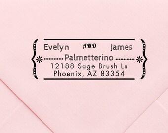Address Stamp, Custom Personalized Address Stamp, Self Inking Return Address Stamp, Personalized Address Stamp, Custom Wedding Stamp 581