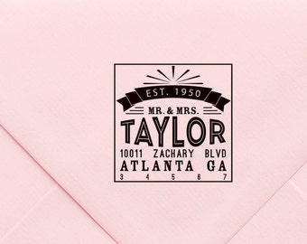 Self Inking Address Stamp , Custom Address Stamp, Monogram, Personalized Stationery, Initial Stamp, Christmas Gift, Return Address 614