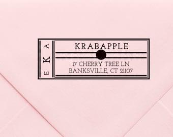 Custom Address Stamp, Self Ink Return Address Stamp, Personalized Address Stamp, Self Ink Custom Address Stamp, Monogram Stamp, Gift  579