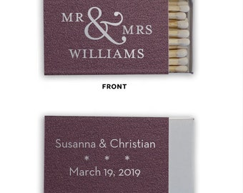 Monogrammed Wedding Matches, Personalized Wedding Matches, Custom Matchbook Wedding Monogram Favors, Custom Printed Matches, Cigar bar 35