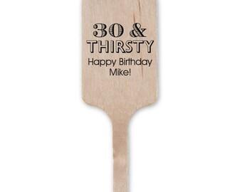 Birthday Celebration Stir Sticks, Wedding Stir Sticks, Custom Stir Sticks, Cocktail Stir Sticks, Personalized Stir Sticks, Bar Stirs