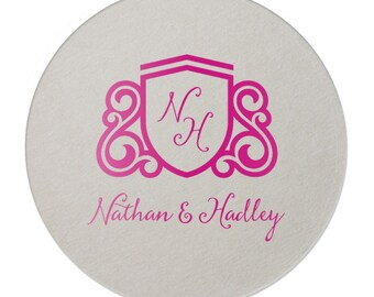 Monogram Coaster, Wedding Coaster, Personalized Coaster, Custom Coaster, Bar Coaster, Wedding Favor, Corporate Coaster, Business Coaster 250