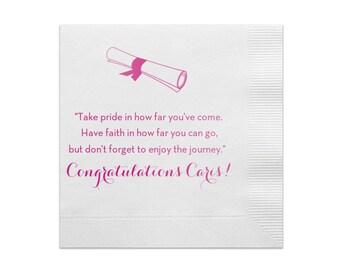 Beverage Napkins, Graduation Napkins, Class of 2019, Graduation Party, Congrats Grad, Cocktail Napkins, Party Napkins, 2018 Graduation 224