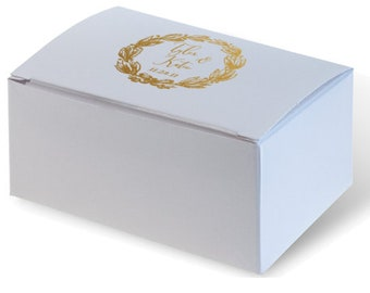 Wedding Favor Truffle Box, Custom Favor Box, Candy Box, Personalized Box, Jordan Almond Box, Shower Favors, Personalized Monogram 291