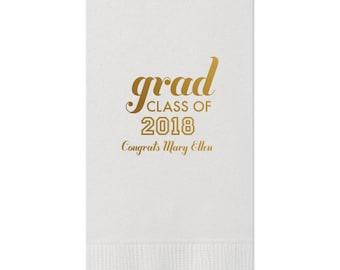 2019 Graduation Napkins, Guest Towels for Graduation, dinner Napkins, Class of 2018, Graduation Party, Congrats Grad, Party Napkins, 222