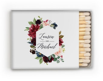 Personalized Wedding Matches, Wedding Matches Custom Matchbox Wedding Favors for Guests Wedding Send Off Cigar Bar Candle Favor