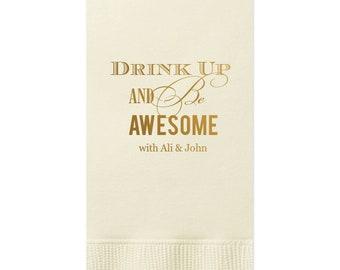 Wedding Guest Towels, Wedding Napkins, Rehearsal Dinner, Monogram Guest Towel, Personalized Napkins, Custom Napkin, Wedding Housewarming 21