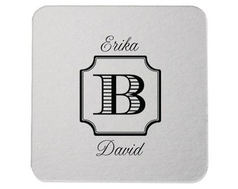 Custom Drink Coasters, Bar Coasters, Custom Favors, Foil Stamped Coaster, Party Coaster, Wedding Favors, Personalized Favors, Bar Decor 244