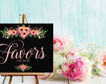 Instant Download Chalkboard Wedding Favor Sign / Chalkboard Wedding / Wedding Favor Table / Candy Buffet // Instant Download
