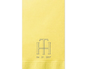 Monogram Guest Towels, Cheers Wedding Napkins, Party Napkins, Custom Monogram, Monogram Napkin, Hand Towel, dinner, Cocktail Napkins 210