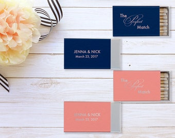 Perfect Match Sparks Flew Custom Wedding Matches, Personalized Sparkler Matches, Custom Matchbook Wedding Favors, Custom Printed Matches 63