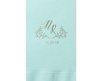 Guest Towels Personalized Wedding Napkins Hand Towels Bathroom Towels Dinner Napkins Wedding Decorations Custom Napkins Paper Napkins 285