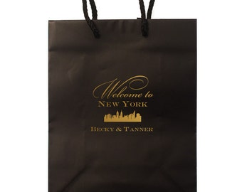 Custom Hotel Wedding Welcome Bags with names & Date, Personalized Gift Bags, Custom Wedding Weekend Bags for Guests, Favor Bag 132