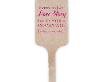 Stir Sticks, Party Stir Sticks, Wedding Stir Sticks, Custom Stir Sticks, Wood Stir Stick, Personalized Drink Stirs, Cocktail Stir 15 Bar