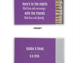 Personalized matches, wedding matchbooks, reception matches, monogram matchbook, sparkler send off matches, reception favor, party favor 22