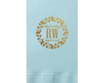 Wedding Guest Towels, Wedding Napkins, Rehearsal Dinner, Monogram Guest Towel, Personalized Napkins, Custom Napkin, Wedding Housewarming 296