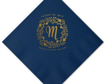Wedding Napkins, Guest Towels, Monogram Guest Towels, Party Napkins, Custom Monogram, Monogram Napkin, Paper Napkin, Cocktail Napkins 294
