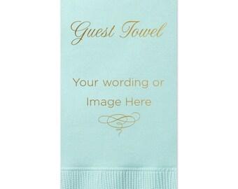 Custom Order - 100 Guest Towels - tons of colors, Hand Towels, Wedding Decoration, Custom Wedding Gift, Bridal Shower Decoration