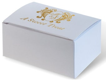 Custom Favor Boxes for Cake & Candies, 50 ink colors to choose from, Birthday Party Favor, Custom Printed, Custom wedding Monogram, Logo 288