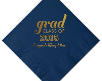 Class of 2019, Senior 2109, Grad Party Napkins, Personalized Napkin, Custom Napkin, 2019 Graduation Napkins, Graduation Party Decoration 222