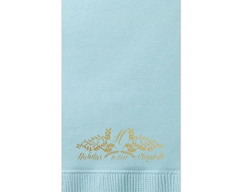 Monogram Guest Towels, Cheers Wedding Napkin, Party Napkins, Dinner Napkin, Monogram Napkin, Hand Towel, Paper Napkin, Cocktail Napkins 243
