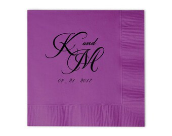 Wedding Napkins Lunch Napkins for Guests Personalized Napkins Custom Napkins Personalized Napkins Cocktail Beverage Luncheon Dinner 199