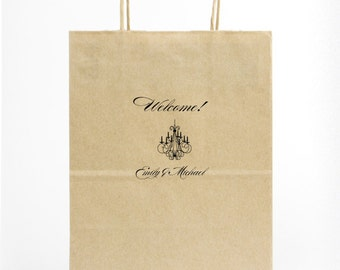 Custom Wedding Gift Bags for Hotel Guests, Personalized Printed Welcome Bags, Foil Printed Bags, Out of Town Guest Bags, Welcome Gift 119