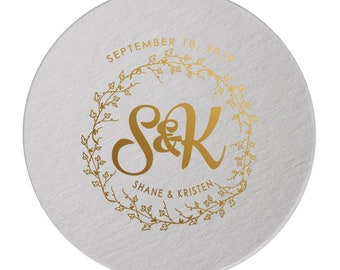 Coaster, Wedding Monogram, Party Coasters, Wedding Coaster, Custom Coaster, Wedding Favor, Monogrammed Favors, Custom Coaster, Coaster 295