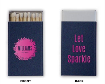 Printed The Perfect Match Personalized Matches, Custom Wedding Matchbox, Personalized Printed Wedding Favor, Bar Matches, Cigar Station 230