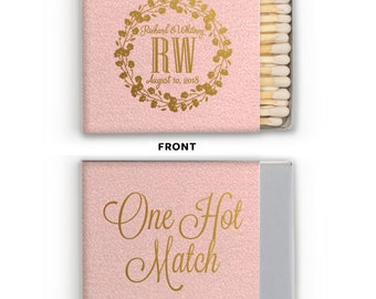 Custom Wedding Matches, Personalized Sparkler Matches, Custom Matchbook Wedding Favors, Custom Printed Matches, Cigar Bar 297