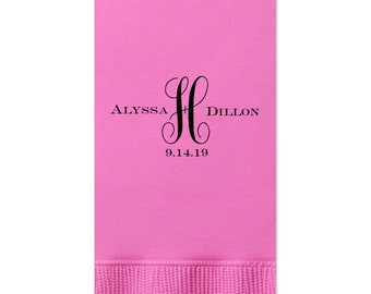 Wedding Guest Towels with monogram, Wedding Napkins, Rehearsal Dinner, Monogram Guest Towel, Personalized Napkins, Custom Napkin, 39