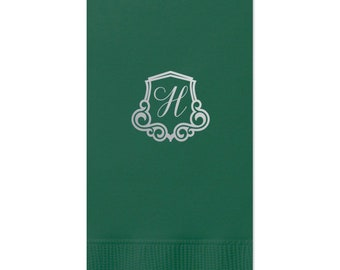 Monogram Guest Towels, Cheers Wedding Napkin, Party Napkins, Dinner Napkin, Monogram Napkin, Hand Towel, Paper Napkin, Cocktail Napkins 282