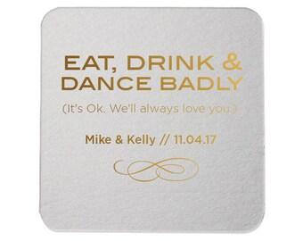 Custom Coaster, Wedding Coaster, Rustic Wedding, Floral Favors, Personalized Coaster, Bar Coaster, Custom Wedding Favors, Coaster  27