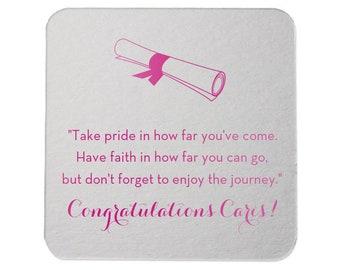 Graduation Coasters, Personalized Coasters, Custom Grad Coasters, Class of 2019, name coaster, Congrats Grad, Graduation Party, Coasters 224