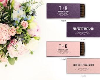 Wedding Favors, Wedding Matches, Wedding Matchboxes, Custom Matches, Foil Matches, Sparkler Matches, Monogrammed Matches, Unique Gifts 85