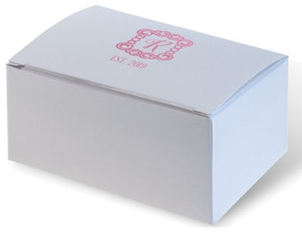 Personalized Wedding Favor/ Cake Box with Your Names, date & special message in Shiny Gold Foil or choose from tons of foil colors! 283