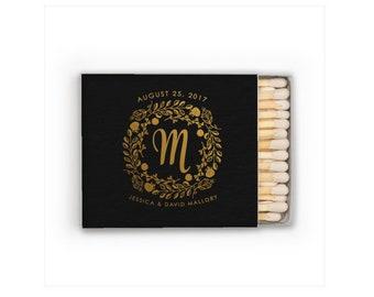 Monogrammed Matches, Wedding Matches, Matchboxes, Wedding Matchboxes, Custom Matches, Foil Matches, Sparkler Matches, Cigar Matches 294