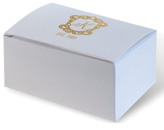 Cake Boxes / Wedding Favor Boxes Personalized, Custom Cake Box, Personalized Cake Box, Monogram Cake Box, Candy Box, Candy Buffet 284