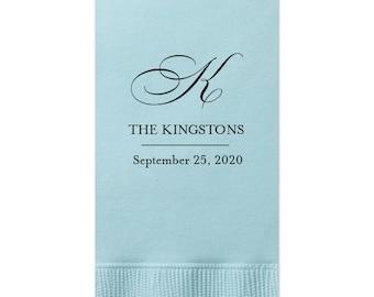 Fancy Monogram Dinner Napkins - tons of colors, Hand Towels, Custom Towels, Wedding Decor, Custom Wedding Gift, Bridal Shower Decoration 46